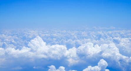 Keuken foto achterwand Hemel Blue sky above the clouds