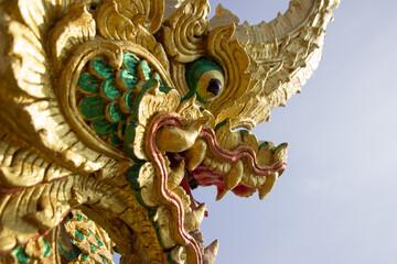 Tuinposter Indonesië Naga statue located at Wat Phra That Choom Chum Sakon Nakhon.