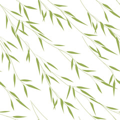 Seamless pattern of bamboo leaves