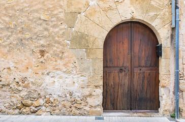 Perfekt Alte Türe Holz Braun Und Altes Mauerwerk Detail Ansicht