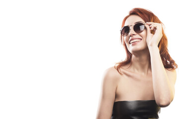 the redhead girl in sunglasses type 3