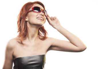 the redhead girl in sunglasses type 4