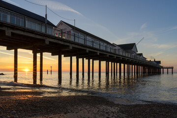 Sunrise over Southwold Pier