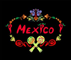 Floral print with Mexican lettering