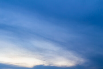 blue and white sky, cloudscape background.