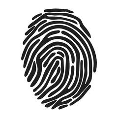 fingerprint icon over white background. vector illustration