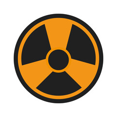 nuclear sign icon over white background. vector illustration