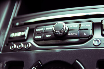 Multifunctional radio panel in the modern car