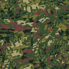 Seamless pattern of masking camo colors for clothes, uniforms. Vector.