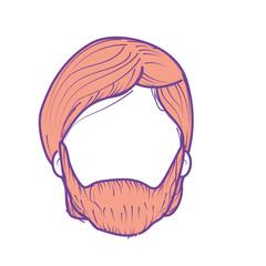 nice man face with haistyle and beard