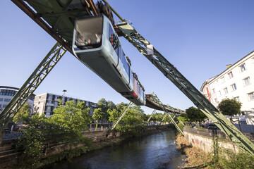 schwebebahn train wuppertal germany speeding