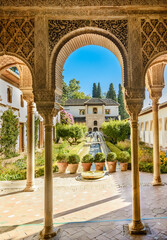 Courtyard of the Alhambra from Granada, Andalusia, Spain