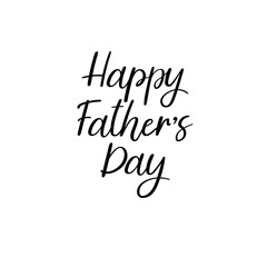 Happy Father's Day Hand Lettering Greeting Card. Modern brush calligraphy. Isolated on white background. Vector handwritten inscription