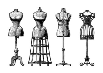 Set of dress form