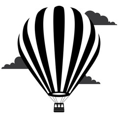 Hot air balloon logo vector illustration