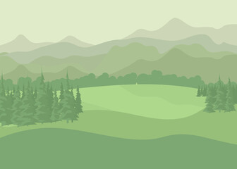 Summer landscape. vector