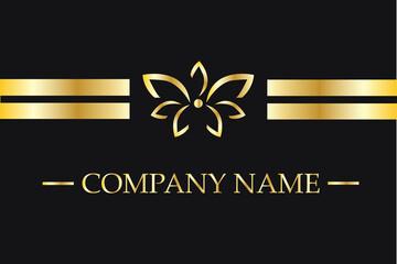 Golden Lotus Flower Logo Design