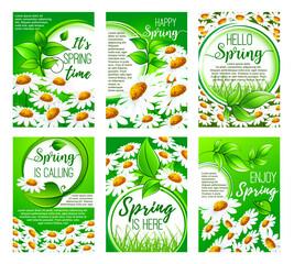 Spring flower greeting card set for holiday design