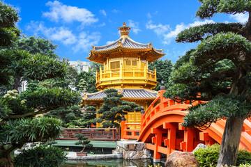 Golden pagoda at Nan Lian Garden
