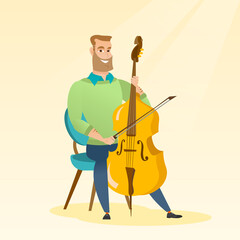 Man playing the cello vector illustration.