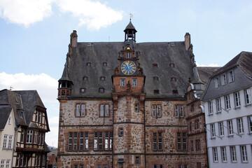 Das Marburger Rathaus auf dem Marktplatz der Oberstadt, Hessen