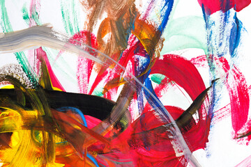 Abstract oil paints
