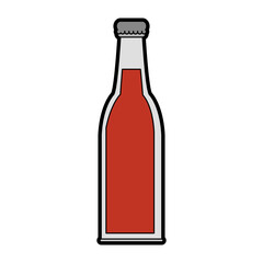 bottle with drink or beverage icon image vector illustration design