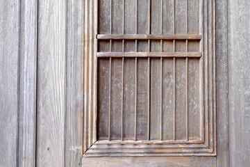 Close up Old Wood Window.