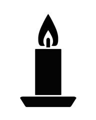 świeca ikona