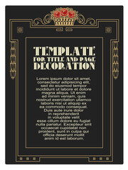Decorative frame. Vector template.