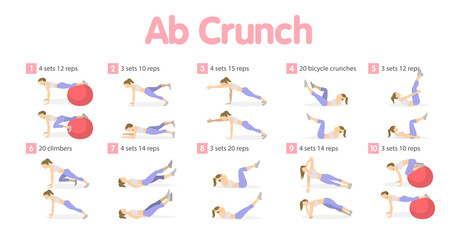 Abs workout set.