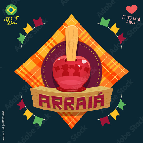 Arraia (means village, also name June Parties) - Apple candy