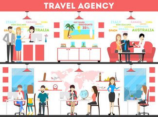 Travel agency set.