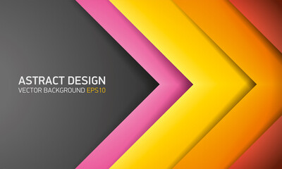 Abstract volume background, color strips, cover for project presentation, vector design
