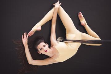 Beautiful woman in the dance studio