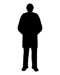 Man Silhouette on white Background. Vector illustration