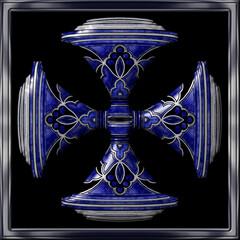 Poster Uilen cartoon Blue/Silver Decanter