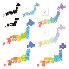 日本地図 デザイン セット
