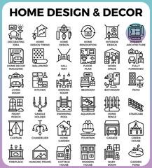 Home Design and Decor icons