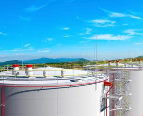 Fuel storage tanks 3d