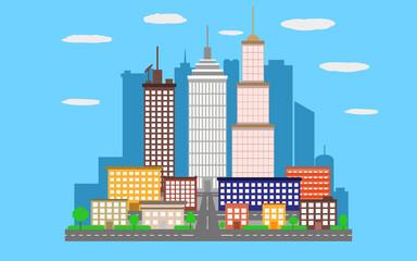 Vector urban landscape city