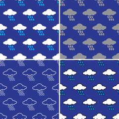 rain cloud pattern seamless