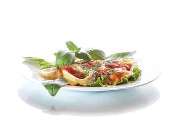 Ravioli with tomato sauce