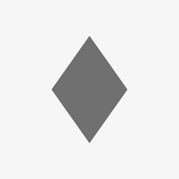 rhombus icon vector illustration. Flat design style