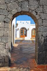 Fototapeta Marina Rubicon in Playa Blanca, Lanzarote, Canary Island, Spain
