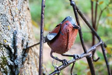 garden decoration - metallic bird,