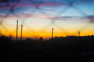 Sunset colourful