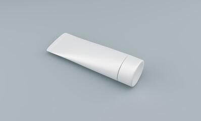3D Template of tube for cream. 3D rendering.