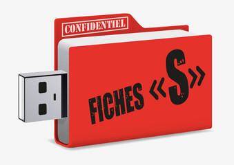 terrorisme - confidentiel - USB - fichiers s - terroriste - fiches S - criminel