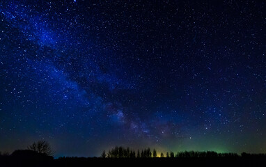 Starry sky and milky way.